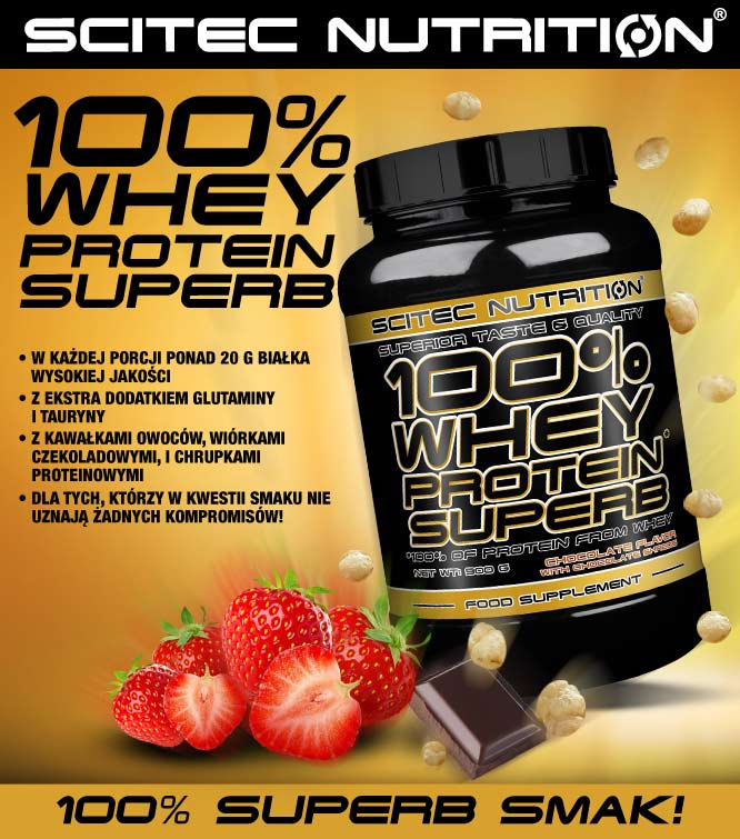 scitec nutrition 100% whey protein superb opinie i smak