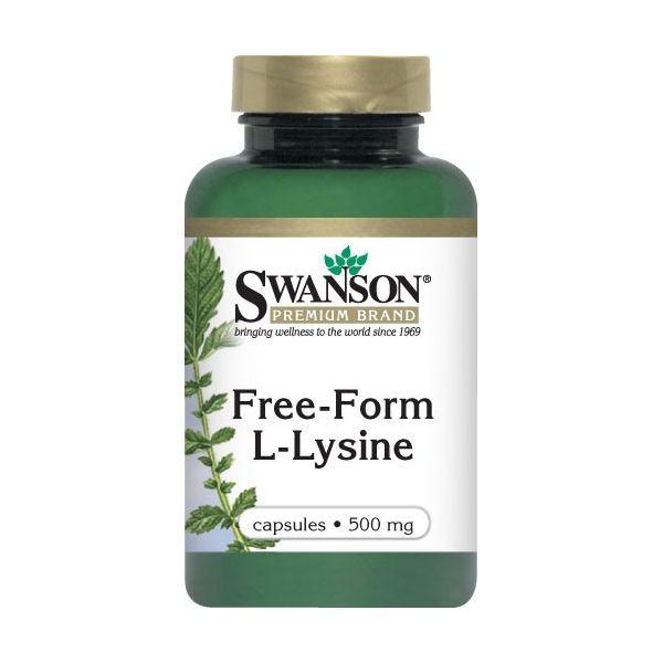 SWANSON Free Form L-Lysine (Lizyna) 100 kap.