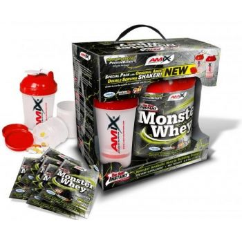 AMIX Monster Whey 2200g + Smart Shaker + 6 Sampli
