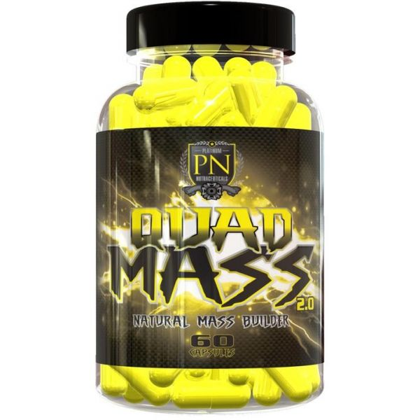 PLATINUM NUTRACEUTICALS Quad Mass 2.0 60 kap.