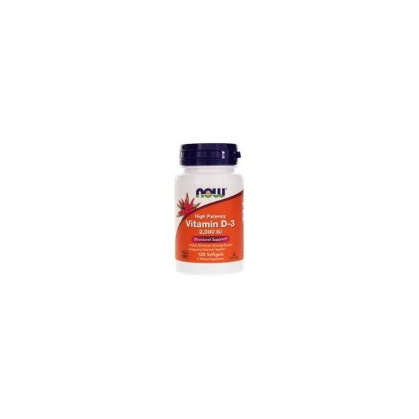 NOW FOODS Vitamin-D3 2000 IU 120 kap.