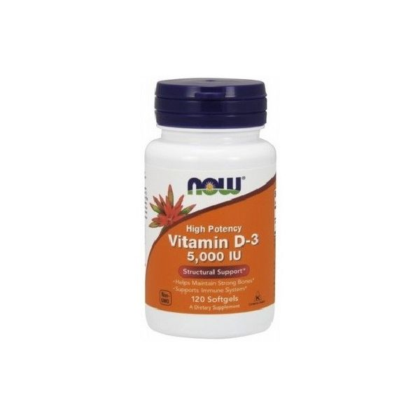 NOW FOODS Vitamin D3 120 kap. 5000 IU