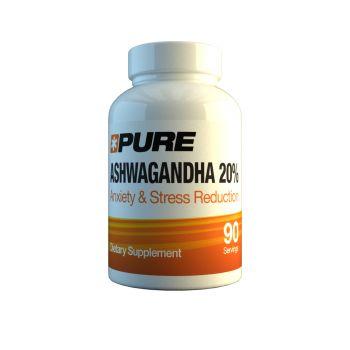 PURE Ashwagandha 20% 90 kap. Aszwaganda