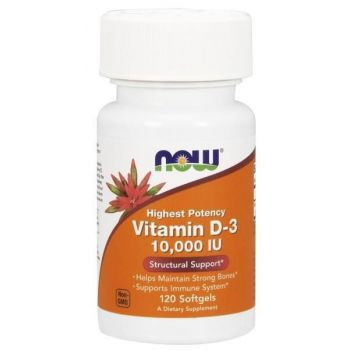NOW FOODS Vitamin D3 120 kap. 10000 IU