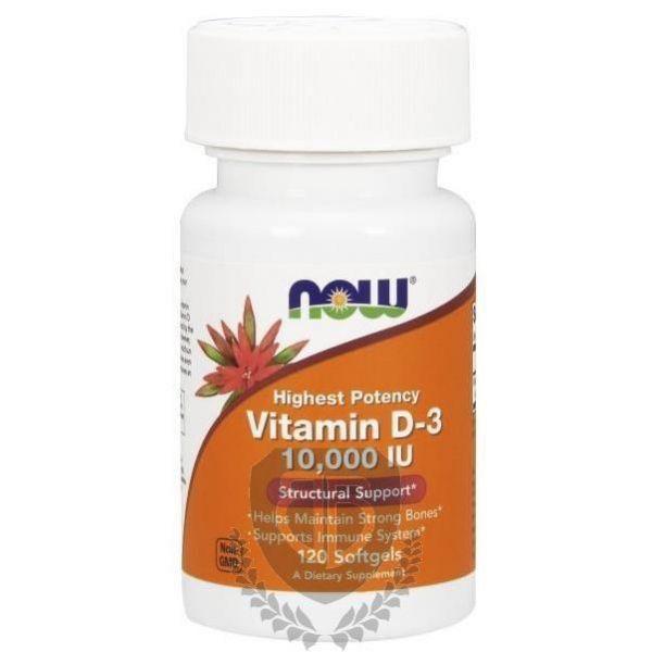 NOW FOODS Vitamin D3 120 kap. 10000 IU