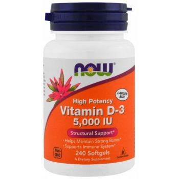NOW FOODS Vitamin D3 5000 IU 240 kap.