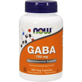 NOW FOODS GABA 750mg 100 kap.