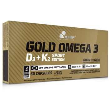 OLIMP Gold Omega 3 D3+K2 Sport Edition 60 kap.