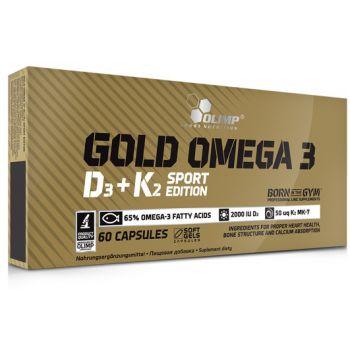 OLIMP Gold Omega 3 D3+K2 Sport Edition 60 kap.