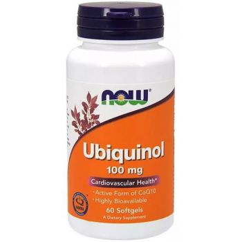 NOW FOODS Ubiquinol Kaneka CoQ10 60 kap.
