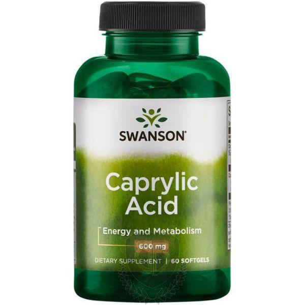 SWANSON Caprylic Acid 60 kap. (Kwas Kaprylowy)