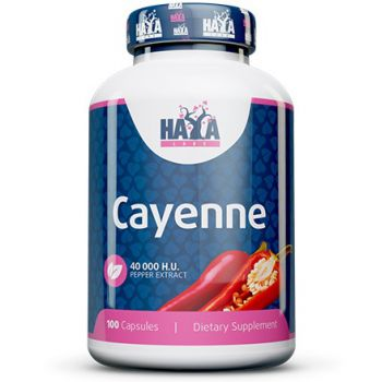 HAYA LABS Cayenne Pepper Extract 40000 HU 100 kap.