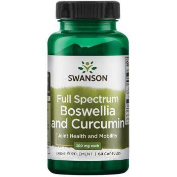 SWANSON Boswellia & Curcumin 60 kap.