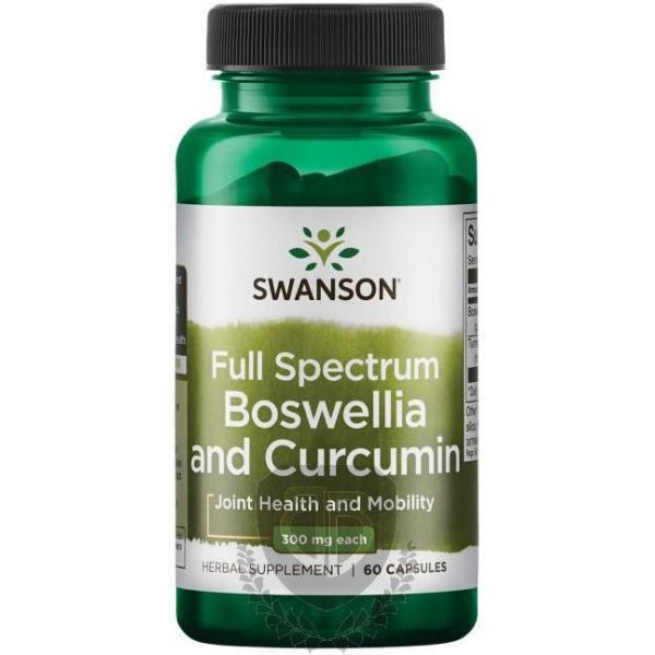 SWANSON Full Spectrum Boswellia and Curcumin 60 kap.