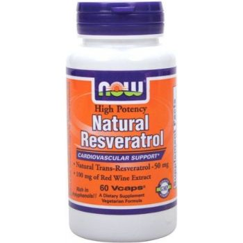 NOW FOODS Resveratrol 60 kap.