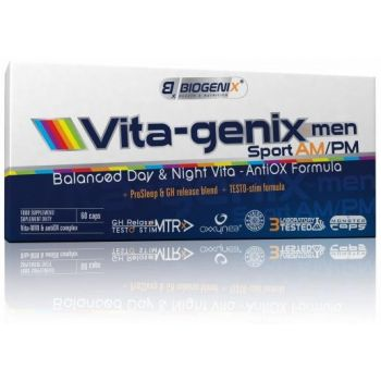 BIOGENIX Vita-genix Men Sport AM/PM 60 kap.