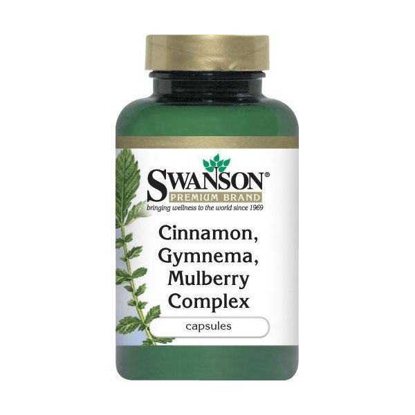 SWANSON Cinnamon Gymnema Mulberry Complex 120 kap.