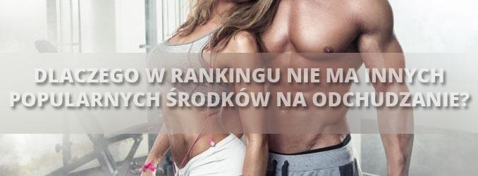 Dlaczego w rankingu nie ma innych popularnych spalaczy tłuszczów
