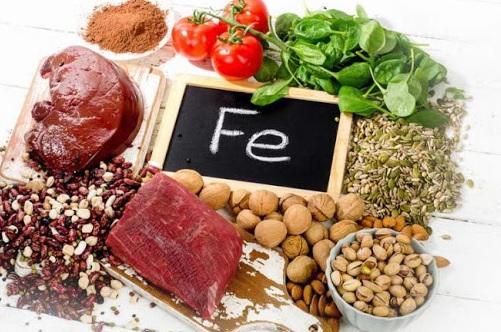 Produkty spożywcze zawierające żelazo
