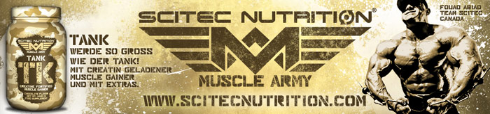 muscle army gainer tank efekty
