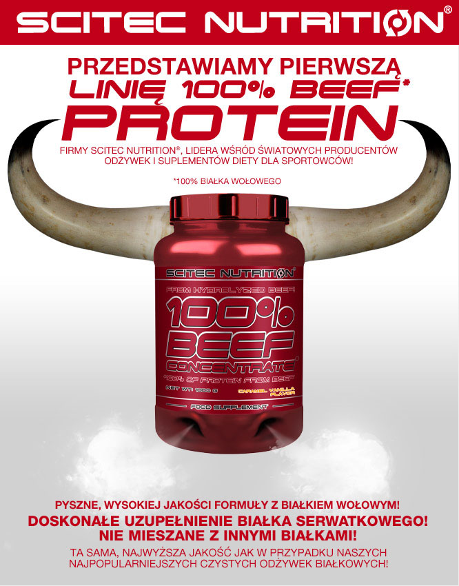 scitec nutrition 100% beef concentrate opinie i smak