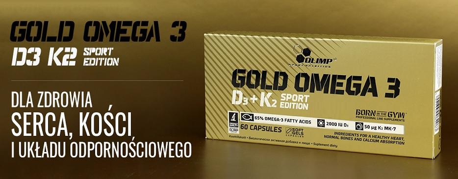 Olimp Gold Omega 3 D3 + K2 działanie