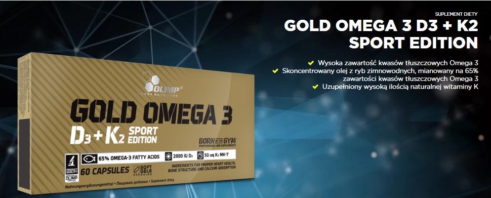 Olimp Gold Omega 3 D3 + K2 opinie i efekty